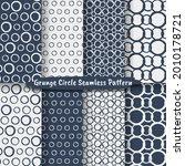 set of grunge circle brush... | Shutterstock .eps vector #2010178721