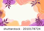 abstract pastel organic shapes... | Shutterstock .eps vector #2010178724