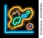map of island  cartography neon ... | Shutterstock .eps vector #2010189464