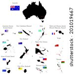 countries of oceania and... | Shutterstock .eps vector #201019667