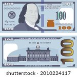 vector image of new 100 dollar ...   Shutterstock .eps vector #2010224117