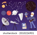 background with astronomy... | Shutterstock .eps vector #2010226901