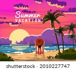 summer vacation woman lying on... | Shutterstock .eps vector #2010227747