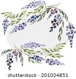 Wisteria   Frame  Watercolor