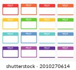 introduction name stickers for...   Shutterstock . vector #2010270614