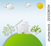 house in village. vector...   Shutterstock .eps vector #201028034