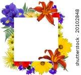 white square  framed by... | Shutterstock . vector #20102848