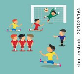 brazil and argentina soccer... | Shutterstock .eps vector #201029165