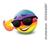 cute smiling emoticon wearing...   Shutterstock .eps vector #2010326087
