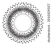 dot round background. halftone...   Shutterstock .eps vector #2010329327