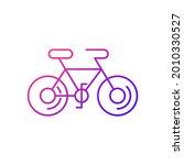bicycle gradient linear vector...   Shutterstock .eps vector #2010330527