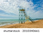 Lifeguard Tower On The Beach...