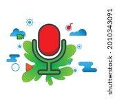voice recorder illustration....