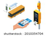 isometric electronic validator... | Shutterstock .eps vector #2010354704