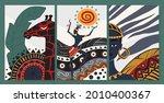 african people dance in ethnic...   Shutterstock .eps vector #2010400367