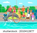 dolphin showing trick  jumping...   Shutterstock .eps vector #2010412877