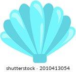blue seashell on white...   Shutterstock .eps vector #2010413054