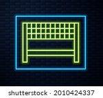 glowing neon line ribbon in... | Shutterstock .eps vector #2010424337