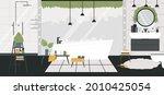 bathroom house interior  room...   Shutterstock .eps vector #2010425054