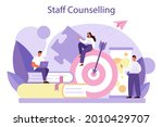 staff counselling concept....   Shutterstock .eps vector #2010429707