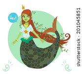 cartoon cute mermaid princess....