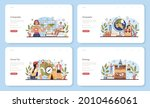 geography class web banner or... | Shutterstock .eps vector #2010466061