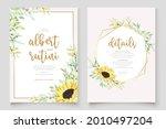Watercolor Sunflower Invitation ...
