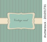 blue vintage frame.striped... | Shutterstock .eps vector #201051731