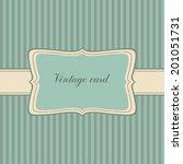 blue vintage frame.striped