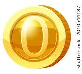 gold medal coin number 0 symbol.... | Shutterstock .eps vector #2010544187