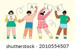 young people standing and... | Shutterstock .eps vector #2010554507
