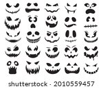 set of pumpkin face. collection ... | Shutterstock .eps vector #2010559457