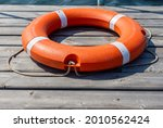 The Lifebuoy Is Lying On A...