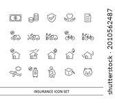 insurance illustration icon set ... | Shutterstock .eps vector #2010562487