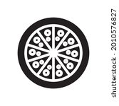 pizza icon solid style vector...