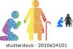man pray for grandmother... | Shutterstock .eps vector #2010624101