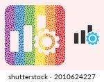 dot mosaic bar chart settings...   Shutterstock .eps vector #2010624227