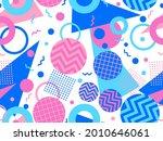 memphis seamless pattern.... | Shutterstock .eps vector #2010646061