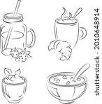 fresh nutritious breakfast.... | Shutterstock .eps vector #2010648914