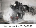 Retro Steam Train Departs From...