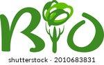 bio. stylized logo. wood style... | Shutterstock .eps vector #2010683831
