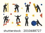 abstract characters set.... | Shutterstock .eps vector #2010688727
