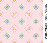 fabric repeat pattern  seamless ... | Shutterstock .eps vector #2010707807