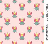 fabric repeat pattern  seamless ... | Shutterstock .eps vector #2010707861