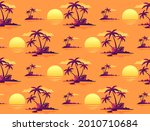 sunset tropical island colorful ...   Shutterstock .eps vector #2010710684