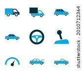 automobile icons colored set... | Shutterstock .eps vector #2010712364