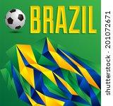 brazil geometric abstract... | Shutterstock .eps vector #201072671