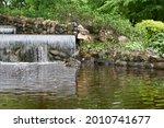 Artificial waterfall in public...