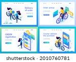 isometric 3d. kit of landing...   Shutterstock .eps vector #2010760781