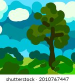 sloppy abstract summer... | Shutterstock .eps vector #2010767447